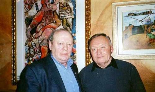 Леонид Школьник с Олегом Калугиным, 2003
