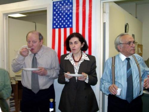 В редакции «Форвертс» с коллегами