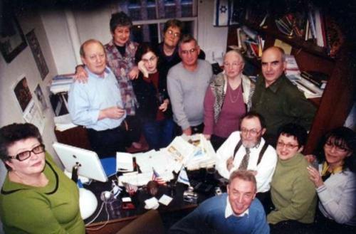 Со всем коллективом газеты «Форвертс», 2004