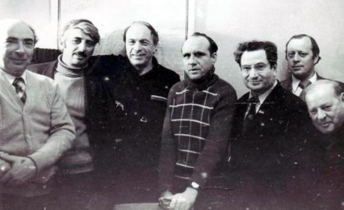 С группой еврейских писателей, 1981